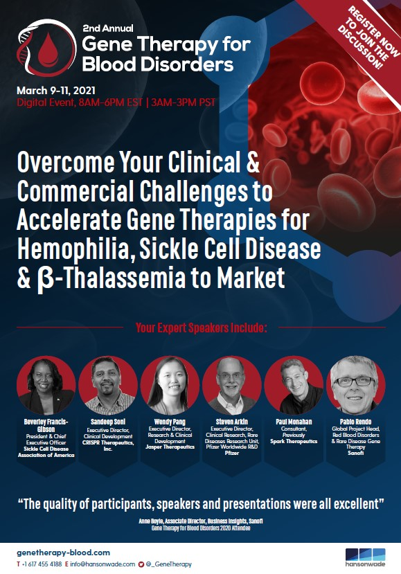Event Guide - Gene Therapy for Blood Disorders